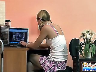Playful Babysitter Ellie Caught In The Hidden Camera And