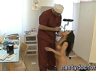 Horny old doctor and his cute patient