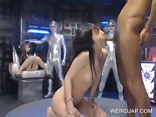 Japanese Slave Gets Throat Fucked