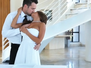Passion-hd Newly Wed Magnificent Boobs Twosome Both Hole Creampie