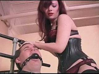 Tied Up Helpless And Having His Nuts Kicked In