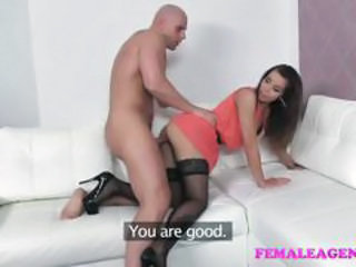 Femaleagent confident stud finishes with a sexy casting crea