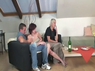 Hammered Sex Party All Over Awesome Grandmother And Her Son Inside Law