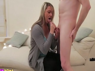 Milf Wanks And Sucks Naked Cfnm Guy