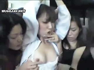 Young Asian Gal Gets Gangbanged By A Gro...