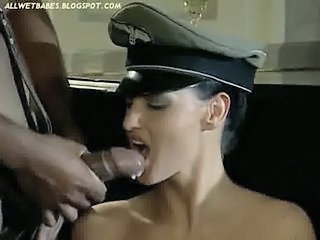 Laura Angel Interracial Anal as Nazi Woman