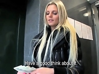 Incredible Czech babe Katka paid for sex