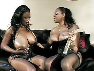 Two horny ebony women