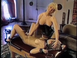 Blonde with big tits bound and made to submit