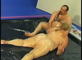 Fat Fuck Fucks Oiled Up Fatty