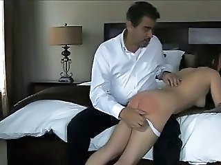 Spanked On Her Bare Butt