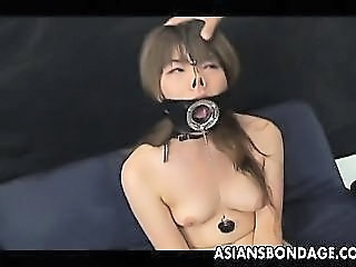 Japanese Cutie Fucked In Her Mouth All Bound