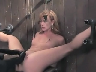 Horny gal has Bonded And got laid all over the Machine