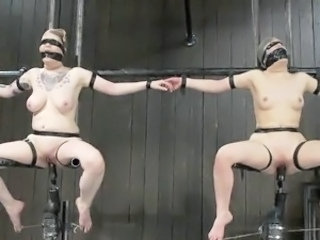 Freaky whores Juliette March And Ruby Reaper having Tortured inside sadism Vid