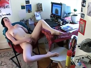 Diddling her twat to two big orgasms