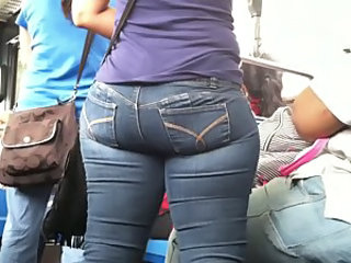 Candid Latina Booty on NYC Bus 2