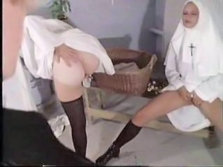 Dirty nuns sharing prist cock