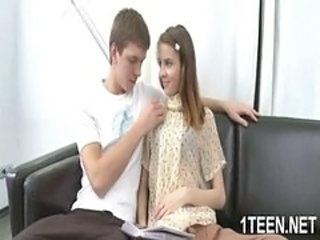 Amazing teen with small tits posing...