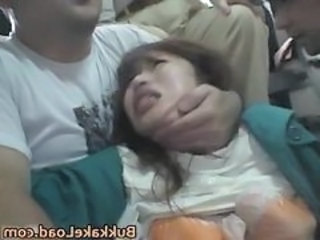 Cute Asian Babe Attacked On A Bus...