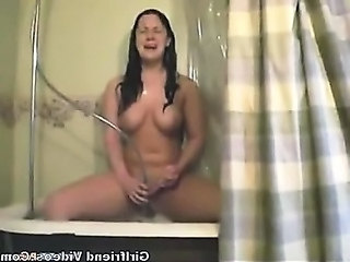 Teen Has Orgasm In Shower