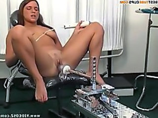 Machine Masturbating Solo
