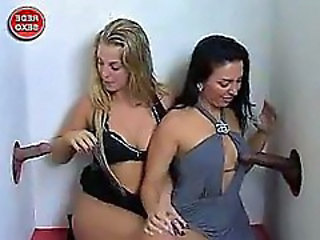 Brazilian Gloryhole Handjob Interracial