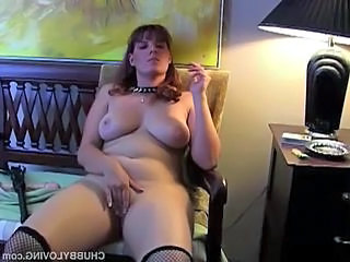Chubby Masturbating Smoking