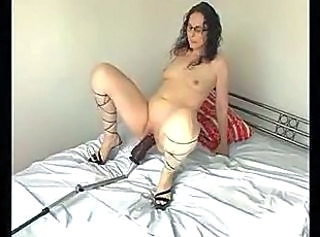 Dildo Machine Masturbating Riding