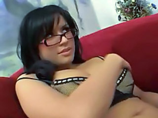 Babe Bisexual Brunette Glasses