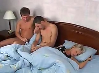 Blonde Sleeping Teen Threesome