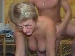 Big Tits Blonde Doggystyle Glasses Mature Pussy