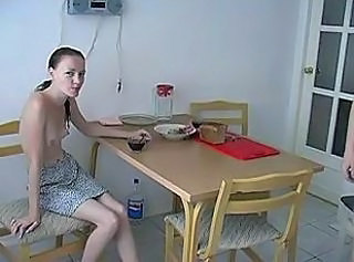 Daddy Daughter Kitchen Old and Young Russian Skinny Small Tits