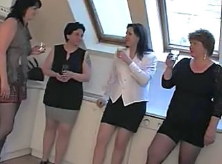 Drunk European Groupsex MILF
