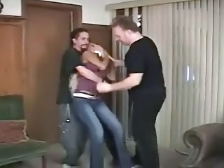 Bondage Forced Hardcore Threesome