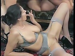 German Groupsex Lingerie MILF Pussy SaggyTits Shaved Stockings