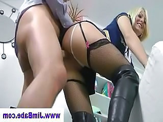 Babe Blonde Clothed Old and Young Stockings