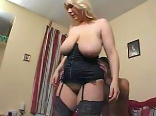 Big Tits Blonde British Bus Corset Mature Mom SaggyTits Stockings