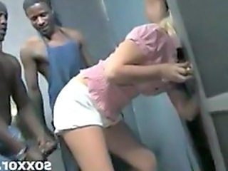 Blonde Gangbang Hardcore Interracial