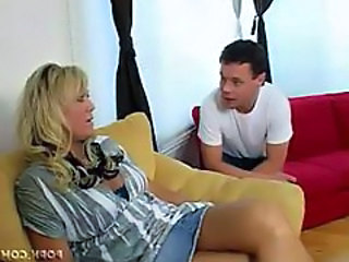 Blonde Mature Mom Skirt
