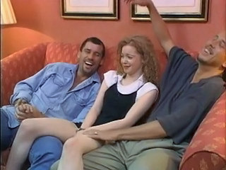 British Cute Redhead Teen Threesome Young
