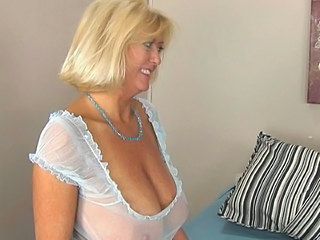 Amazing Big Tits Blonde Mature