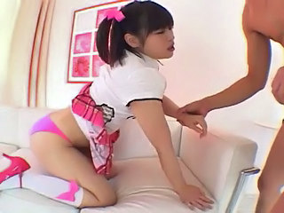 Asian Cute Panty Pigtail Skirt