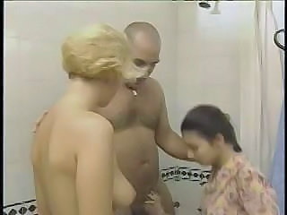 Bathroom Blonde Brunette Vintage