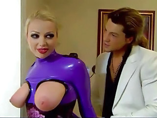 Big Tits Blonde Latex Party SaggyTits
