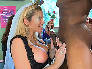 Amazing Babe Big Tits Blonde Blowjob Bride Clothed Interracial