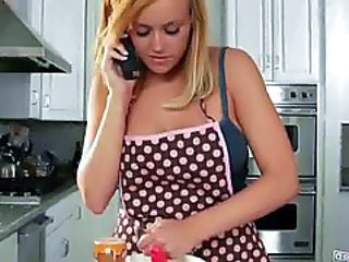 Amazing Babe Blonde Kitchen