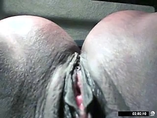 Close up Ebony Orgasm Pussy