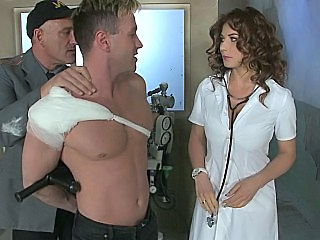 Brunette Doctor Prison Uniform