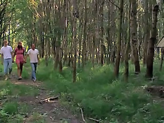 Groupsex Outdoor Teen Threesome