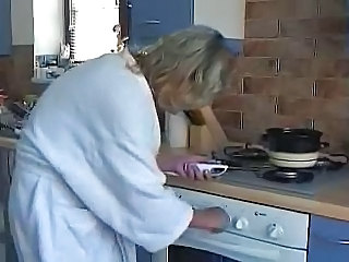 Amateur Kitchen Mature Wife